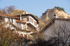 Houses in the mountains, the town of Melnik in Bulgaria Royalty Free Stock Photos