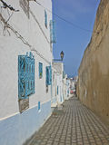 Houses in narrow streets in Suss, Tunis Stock Photography