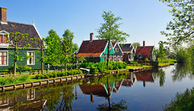 Houses near the canal Royalty Free Stock Image