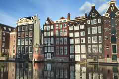 Houses near Central Station in Amsterdam Royalty Free Stock Photography