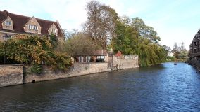 Houses near the lake in Cambridge royalty free stock photos