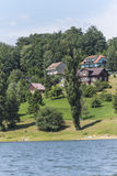 houses near lake Royalty Free Stock Photo