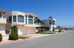 Houses near ocean. Little houses in typical american style near ocean Royalty Free Stock Photography