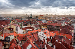 Houses near old town square in Prague Stock Photography