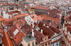 Houses near old town square in Prague Royalty Free Stock Photography
