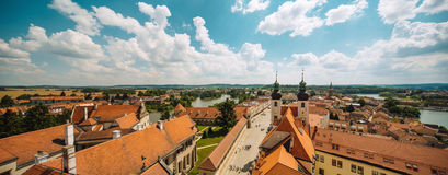 Houses near old town square in Prague, Czech Republic, view from above Royalty Free Stock Photos
