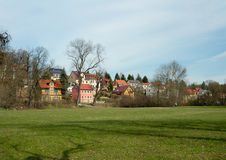 Houses near the Park an der Ilm, Weimar Stock Photography