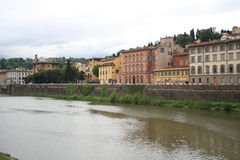 Houses near Ponte Vecchio in Florence, Italy Stock Photography