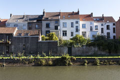 Houses near the river Royalty Free Stock Photography