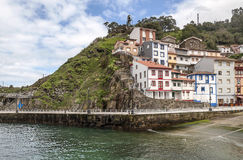 Houses near the sea  in Cudillero Royalty Free Stock Images