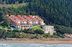 Houses near sea in Urdaibai. Basque Country Royalty Free Stock Photos