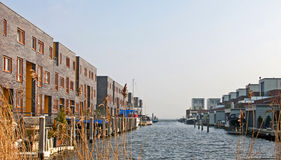 Houses near water, Holland Royalty Free Stock Photo