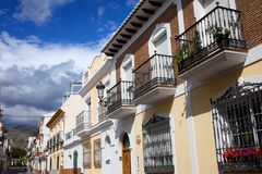 Houses in Nerja Town Royalty Free Stock Photography