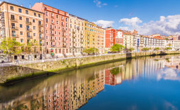 Houses by the Nervion Royalty Free Stock Photo