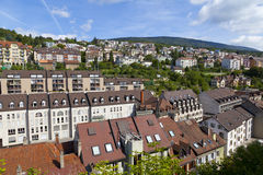 Houses in Neuchatel Stock Photos