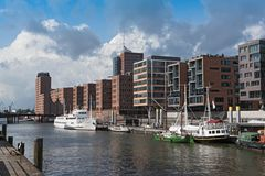 Houses in the new Hamburg district HafenCity Royalty Free Stock Photos
