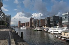 Houses in the new Hamburg district HafenCity Royalty Free Stock Photo