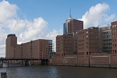 Houses in the new Hamburg district HafenCity Stock Image