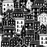 Houses New Pattern Monochrome 3 Stock Photography