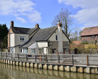 Houses by canal Royalty Free Stock Image