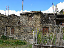 Houses in Ngawal village, Nepal Royalty Free Stock Photography