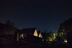 Houses at Night Royalty Free Stock Photography