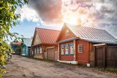 Houses on Nikolskaya Street Stock Photography
