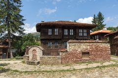 Houses of the nineteenth century in historical town of Kotel, Sliven Region, Bulgaria. KOTEL, BULGARIA - AUGUST 1, 2014: Houses of the nineteenth century in royalty free stock photo