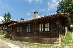 Houses of the nineteenth century in historical town of Kotel, Sliven Region, Bulgaria. KOTEL, BULGARIA - AUGUST 1, 2014: Houses of the nineteenth century in stock images