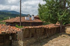 Houses of the nineteenth century in historical town of Kotel, Sliven Region, Bulgaria. KOTEL, BULGARIA - AUGUST 1, 2014: Houses of the nineteenth century in royalty free stock image