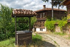 Houses of the nineteenth century in historical town of Kotel, Sliven Region, Bulgaria. KOTEL, BULGARIA - AUGUST 1, 2014: Houses of the nineteenth century in stock image