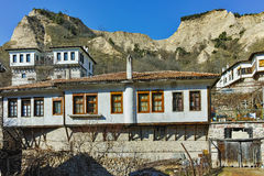 Houses from nineteenth century in town of Melnik, Bulgaria Royalty Free Stock Image