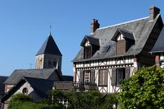 Houses in Normandy Stock Photos
