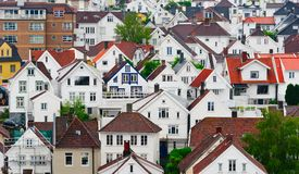 houses norway stavanger Royaltyfria Bilder