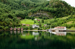 Houses in Norway Royalty Free Stock Images