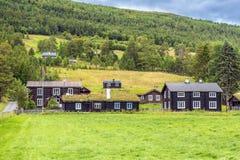Houses in norwegian countryside. Norway Stock Photo