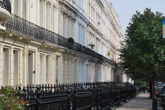 Houses in Notting Hill Royalty Free Stock Photos