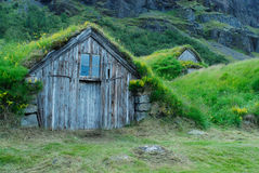 Houses of Nupstadur, Iceland Royalty Free Stock Photos