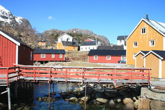Houses Nusfjord Stock Images