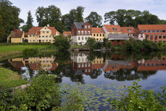 Houses of Nyborg Denmark Royalty Free Stock Photo
