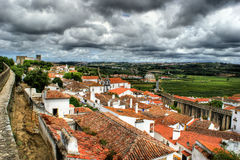 Houses of Obidos Stock Photo