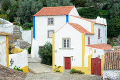 Houses of Obidos Royalty Free Stock Photography