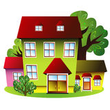 Houses Of Small Green Settlement Stock Photos