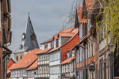 Houses in the old center of Wernigerode Stock Photos