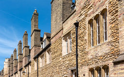 Houses with old chimney. Old chimney in the famous city of Canterbury, England stock photo