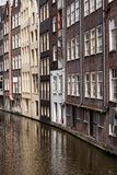 Houses in Old City of Amsterdam Royalty Free Stock Images