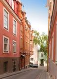 houses on the Old city streets. Tallinn. Estonia. Stock Image