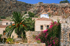 Houses of old Monemvasia, Greece Royalty Free Stock Photos