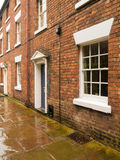 Houses in an old narrow lane Royalty Free Stock Photos