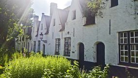Houses from the old part of the Bruges royalty free stock photography